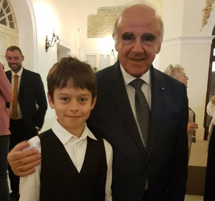 Teo Gertler with President George Vella