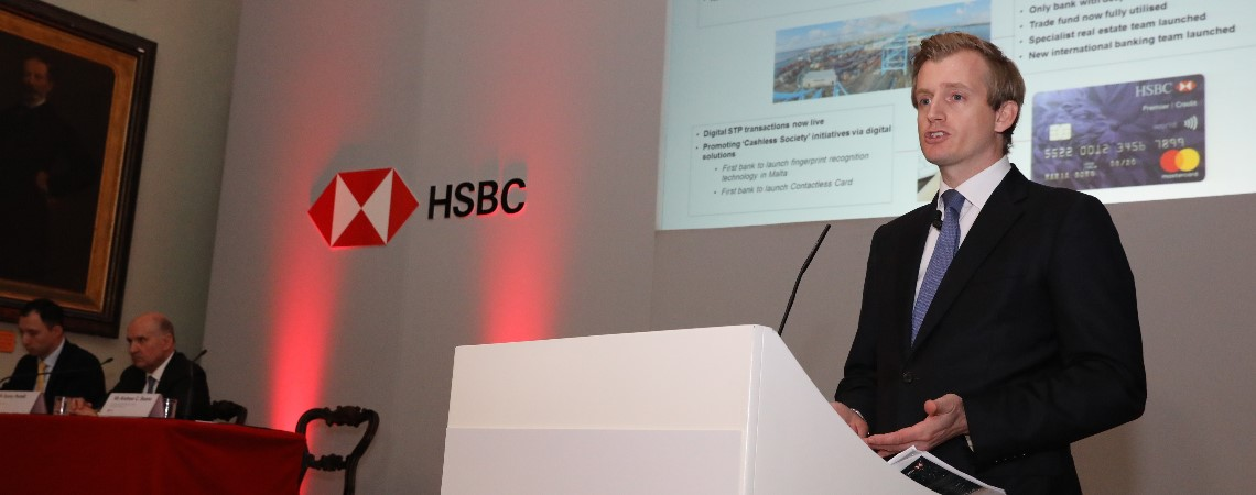 HSBC Bank Malta Announces Lower Profits But Increased Dividends
