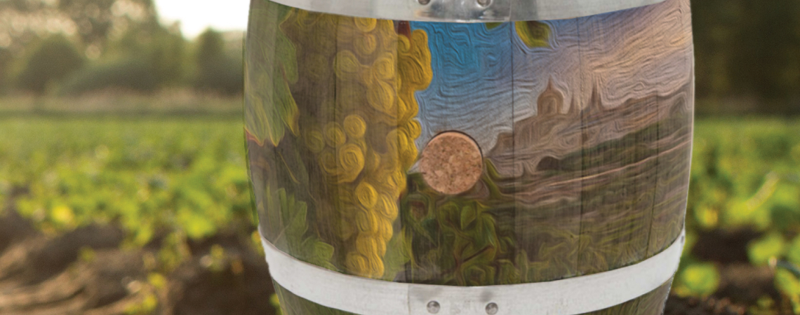 Delicata's barrel art contest shows that art is a living thing just like wine