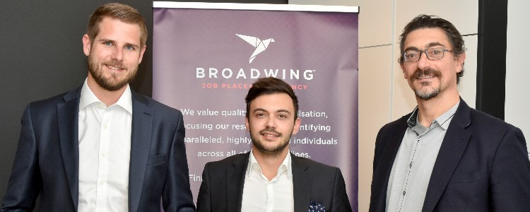 Broadwing Ltd General Manager John Paris and directors Ben Pace Lehner and Alan Cini discuss the business of offering recruitment and HR services to d