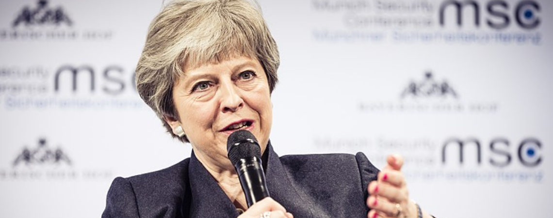 """There are some in Westminster who would wish to delay or even stop Brexit and who will use every device available to them to do so,"" Mrs May said."