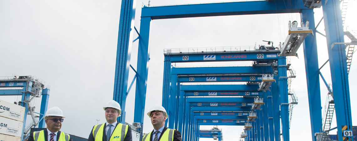 The €31 million investment by the Freeport includes 15 newly-acquired Kone Rubber-Tyred Gantry Cranes (RTGs).