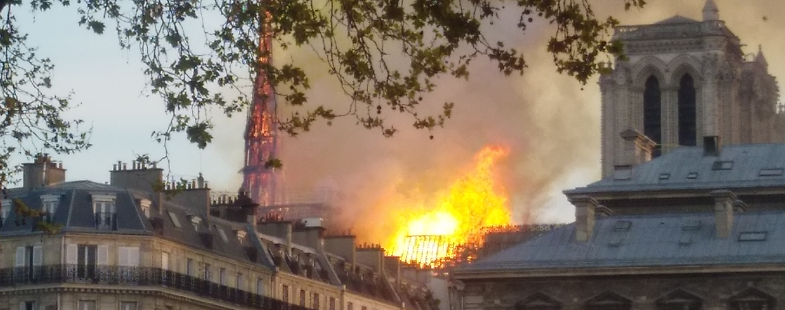 The fire at Notre-Dame cathedral. Photo - Remi Mathis/WikiCommons