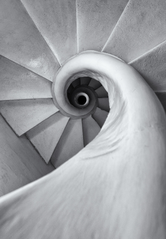 Emanuele Luigi Galizia's open masonry staircase at the Addolorata Cemetery. Photos - Charles Paul Azzopardi