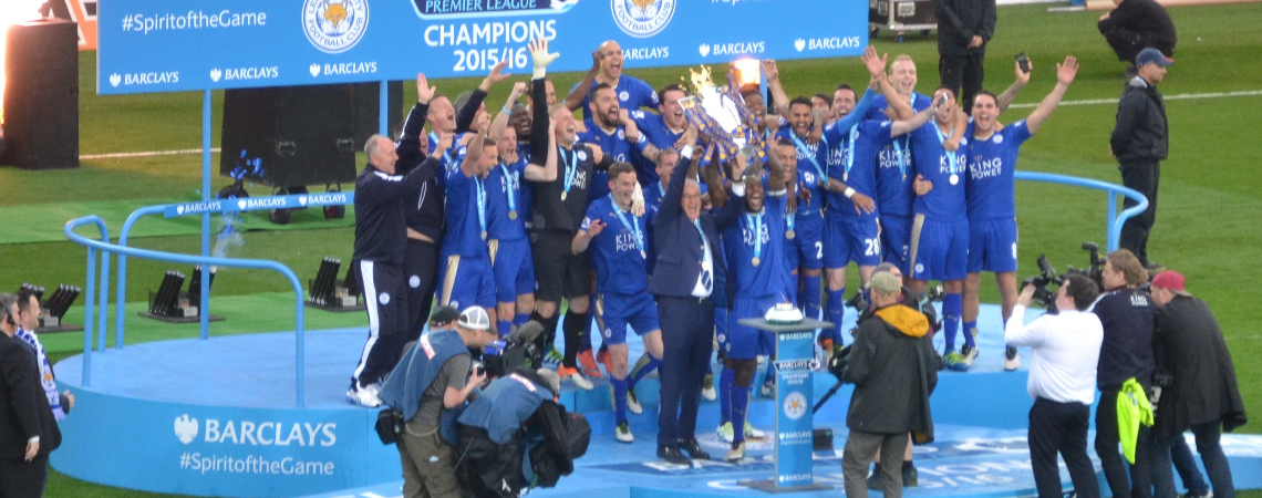Leicester City, winners of the 2015-2016 English Premier League