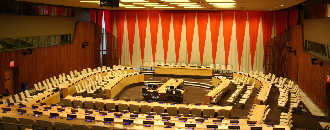 The United Nations Economic and Social Council chamber