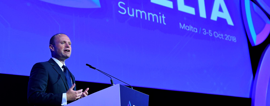 Prime Minister Joseph Muscat at the Delta Summit Launch. Photo - DOI/Clifton Fenech