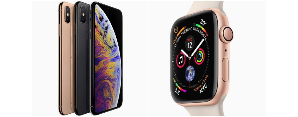 Apple has updated its iPhone X handset with three more powerful models, and added a new smartwatch with a new fall-detection function.